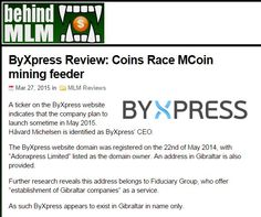 Byxpress is online portal, where you can do all the things you normally do online with just one click on one site and you get rewarded every time you and your friends are using it. http://behindmlm.com/mlm-reviews/byxpress-review-coins-race-mcoin-mining-feeder/
