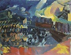 David Bomberg, Bomb store; Study for Memorial Panel I
