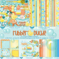 Rubber Duckie : Collection - $10.00 : Digital Scrapbooking Studio Bath, Digital Scrapbooking, Studio, Design, Collection, Bathing, Design Comics, Bathtub, Study