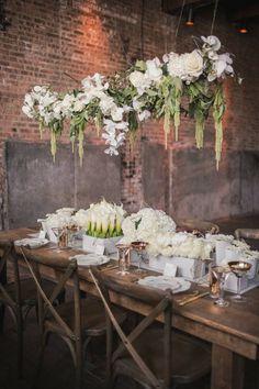 Photo: MGB Photo via Style Me Pretty; Love the hanging flower box idea!