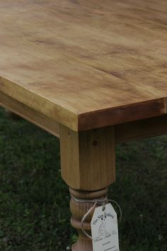 All our tables are custom, this one has straight edges and corners instead of the more rounded ones.