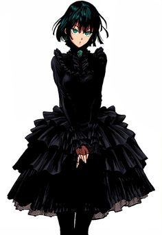 Fubuki Lolita Dress by MaFLasd on DeviantArt Anime Girl Hot, Manga Girl, Anime Art Girl, One Punch Man Funny, One Punch Man Manga, Manga Anime, Fanarts Anime, Tatsumaki One Punch Man, Caped Baldy