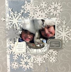 © Anna Griffin, Inc. Snowflake Die Cutting Dies.    DD idea--add snowflakes to any day that it snows