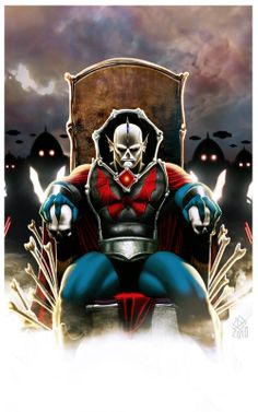 """Hordak orders his sorcerers (left and right of Hordak) to chant the Despondos spell to send Castle Greyskull into the dark demension.  The sorcerers fly over Castle Greyskull and chant,                      """" DESPONDOS!""""   A dark cloud fills the sky over the castle."""