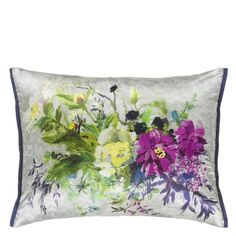 Aubriet Amethyst Throw Pillow design by Designers Guild