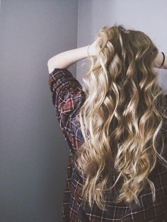 loose curls. long hair.