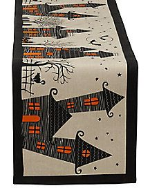 Haunted House Table Runner - Decorations