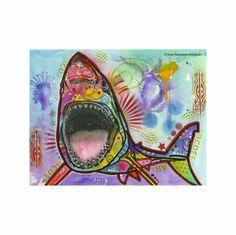 Great White Shark Dean Russo Vinyl Dog Car Sticker