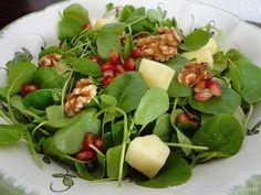 Ensalada de Berros con Manzana, Granada y Nueces Nueva receta de Blog de Mi Cocinita de Juguete de Tytania Esta ensalada de berros es muy …