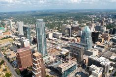Aerial view of downtown #Austin, TX.  photo by: Laurie Lyons www.seesawaustin.com/downtown-austin