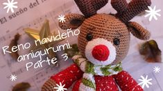 RENO NAVIDEÑO AMIGURUMI. PARTE 3 FINAL - YouTube Knit Pillow, Christmas Pillow, Teddy Bear, Pillows, Knitting, Halloween, Toys, Animals, Youtube