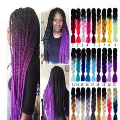 Ambitious Razeal 24inch Pure Color 100g Synthetic Jumbo Braid African Style Long Hair Kanekalon Crochet Braiding Hair Hair Extensions & Wigs Hair Braids