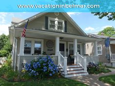 The Blue Hydrangea Beach Cottage vacation rental in Belmar, NJ.