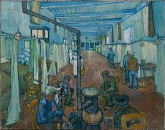 """Van Gogh, """"Ward in a Hospital""""- had an impromptu hospital visit for someone last night.  They're home safe now."""