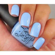 Light blue nail polish ❤ liked on Polyvore featuring beauty products, nail care, nail polish and shiny nail polish