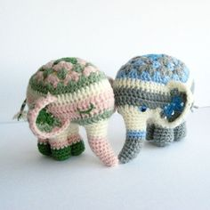 Noodle the elephant amigurumi crochet pattern by Irene Strange- other adorable patterns available as well.