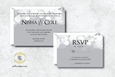 Gray Neutral Wedding Invitation  Custom Wedding by YellowHype, $3.00