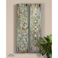 Wine Paintings and Tuscan Wall Art - Uttermost Climbing Vines and Florals I, II Paintings Informations About Wine Paintings and Tuscan Wa - Silver Wall Clock, Wine Painting, Stencil Painting, Texture Painting, European Decor, Tuscan Design, Tuscan Style, Climbing Vines, Thing 1