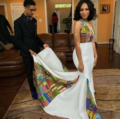 This woman, whose kente dress featured a mesmerizing patchwork of fabrics. 18 Fierce AF African Prom Dresses That'll Give You Life African Wedding Attire, African Attire, African Wear, African Dress, African Weddings, African Prom Dresses, African Fashion Dresses, Dresses Dresses, African Inspired Fashion