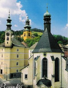 UNESCO Historic Town of Banská Štiavnica and the Technical Monuments in its Vicinity Native Country, Big Country, Schengen Area, Heart Of Europe, Architectural Features, Central Europe, Bratislava, Kirchen, Beautiful Buildings