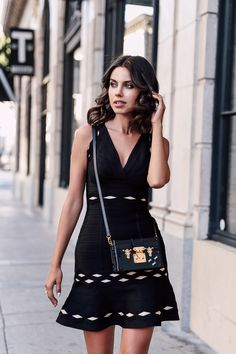 VivaLuxury - Fashion Blog by Annabelle Fleur: HERVÉ LÉGER :: LITTLE BLACK DRESS