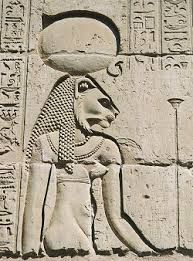 Tefnut - Goddess of the Rain : daughter of Amun-Ra and the mother of Geb and Nut. Ancient Egyptian Religion, Ancient Tomb, Egyptian Mythology, Egyptian Goddess, Egyptian Pharaohs, Ancient Goddesses, Gods And Goddesses, Sun Worship, December 26