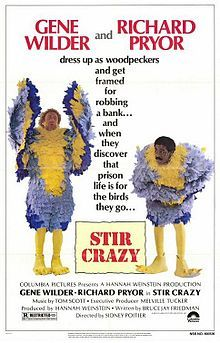 Film: Stir Crazy Year poster printed: 1980 Country: USA Size: x This is an original one-sheet movie poster from 1980 for Stir Crazy starring Gene Wilder, Richard Pryor, JoBeth Williams Jobeth Williams, 1980's Movies, Great Movies, Awesome Movies, Watch Movies, Horror Movies, Movies Online, Love Movie, Movie Tv