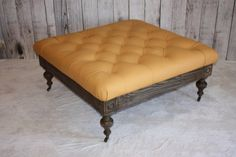 Tufted Leather Ottoman by 1801FurnitureCo on Etsy