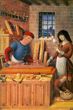 Bourdichon: The Four Social Conditions -- Work (1510)