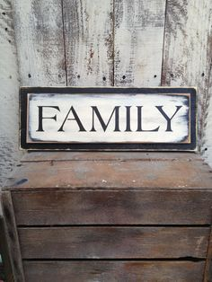 Shabby Chic Black and Ivory Family Sign by SassySouthernCharm