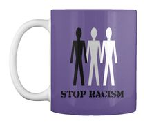 Stop Racism Purple T-Shirt Front