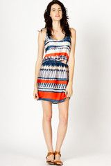 Horizon Ikat Print Dress