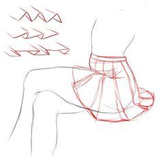Manga Drawing Tips How to draw manga skirt Pencil Art Drawings, Art Drawings Sketches, Drawing Base, Manga Drawing, Anatomy Drawing, Human Anatomy, Drawing Techniques, Drawing Tips, Drawing Stuff