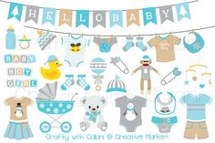 Winter Wonderland Baby Clipart by Crafty with Calani on @creativemarket
