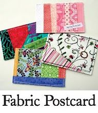 Fabric Postcards (includes postal service requirements)