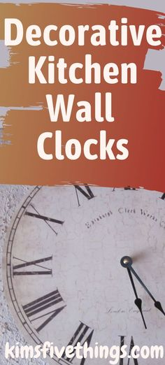 Decorative kitchen wall clock decor ideas. What to do with empty wall space on kitchen walls? Traditional style wall clocks. Red kitchen wall clock 1950's style. #kitchenclockideas #kitchenwalldecor #kitchendecorinspiration Wall Clock Ikea, Red Wall Clock, Rustic Wall Clocks, Kitchen Wall Clocks, Clock Decor, Rooster Wall Clock, Wall Stickers Red, Red Kitchen Walls, Ribbon Wall