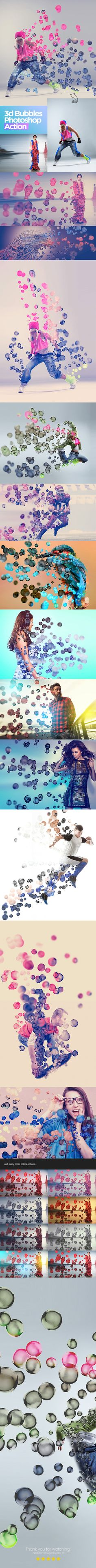 3D Bubbles Photoshop Action - Photo Effects Actions Download here: https://graphicriver.net/item/3d-bubbles-photoshop-action/19772266?ref=classicdesignp