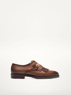 LEATHER MONK SHOES