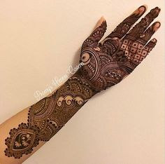 this is Indian Heavy Front Hand Mehndi Design For brides Mehndi Designs Book, Indian Mehndi Designs, Stylish Mehndi Designs, Mehndi Designs 2018, Mehndi Design Pictures, Wedding Mehndi Designs, Beautiful Mehndi Design, Mehndi Designs For Hands, Bridal Mehndi