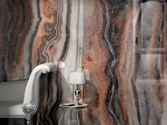 """PRIVILEGE by MIRAGE - large (35""""x70.5"""") porcelain slabs with precious stone looks for eye-catching wall cladding or decorative interior elements #madeinitaly #cersaie #interiors"""