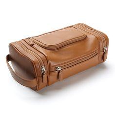 Leatherology Multi Pocket Toiletry Bag for Men. Seen on stylesamplemag.com