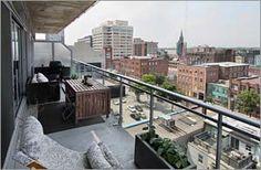 #20Stewart #Loft #Toronto Terrace, Toronto, Loft, Space, Outdoor Decor, Home Decor, Balcony, Floor Space, Decoration Home