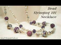 Beading 101 - Bead Stringing Basics Necklace Tutorial - YouTube