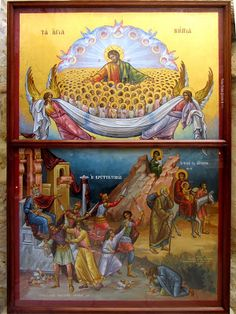 Icon of the Holy Innocents slaughtered by Herod. Feast of the Hold Innocents, December 28 Catholic Art, Catholic Saints, Religious Symbols, Religious Art, Baby Icon, Religious Pictures, Byzantine Icons, Orthodox Icons, Sacred Art