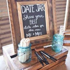 Recadinhos para os noivos!