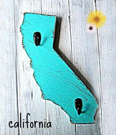 Want in classic white! California sign by OldNewAgain on Etsy, $42