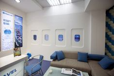 Inspired by an airplane interior, this travel agency was designed by Zara in Armenia.