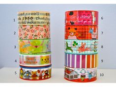 Deco Crafting Tapes Kawaii Set 5 by kayniskreations on Etsy, $2.75