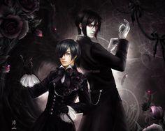 Ciel Phantomhive and Sebastian by K-Koji on DeviantArt