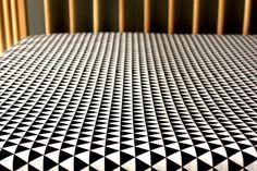 Black white crib sheet geometric baby sheet by NewMomDesigns